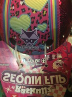 Raskullz Sequin Flip Pink heart girls bike helmet shiny age