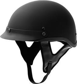 Fuel Helmets SH-HHFL66 HH Series Half Helmet, Flat Black, La