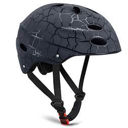 KUYOU Skate Helmet Adjust Size Multi-Impact ABS Shell for Ki