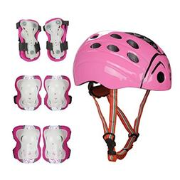 Kids Skate Protection Set with Helmet- SymbolLife Knee and E