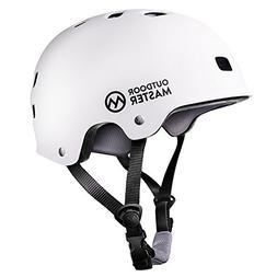 OutdoorMaster Skateboard Helmet - CPSC Certified Lightweight