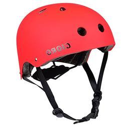 GIORO Skateboard Helmet Impact Resistance Safe Helmet with V