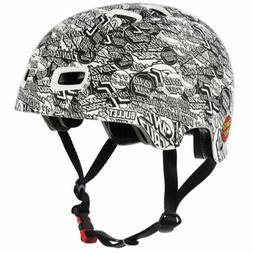 Bullet Skateboard Helmet OGSC Santa Cruz Logo White Size S/M