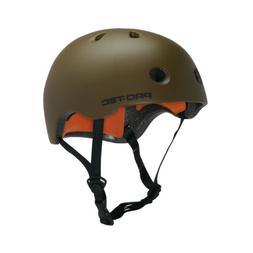 PRO TEC Skateboard Helmet STREET LITE CPSC Satin Army Green