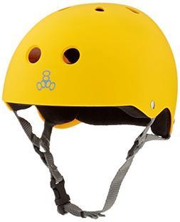 TRIPLE 8 Skateboard HELMET Sweatsaver Yellow Rubber Size Med