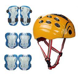 SymbolLife Kids Skateboard Protection Set with Helmet, Knee
