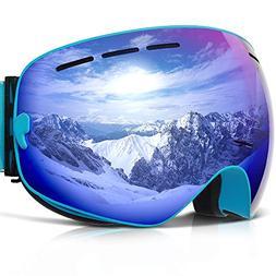 COPOZZ Ski Goggles, G1 Mens Womens Ski Snowboard Snowboardin