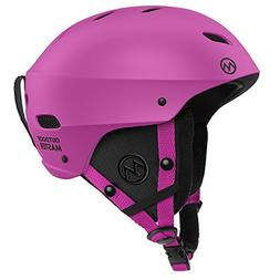 OutdoorMaster Ski Helmet - with ASTM Certified Safety, 9 Dif