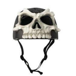 Krash! Skull Bones Mask Youth Helmet - Gray Black White  NWT