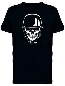 Skull With German Biker Helmet Men's Tee -Image by Shutterst