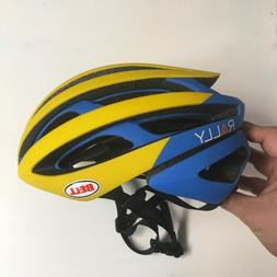 Small Bell Z20 Yellow Blue Rally Cycling MIPS Road Bike Helm