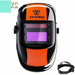 DEKO Solar Auto Darkening MIG MMA Electric Mask Helmet Welde