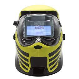 Doitpower Solar-powered Auto-darkening Welding Helmet with 4