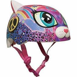 sparklez peace love kitty helmet pink ages