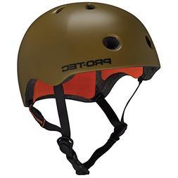 PROTEC Original Street Lite Helmet, Army Green, Large