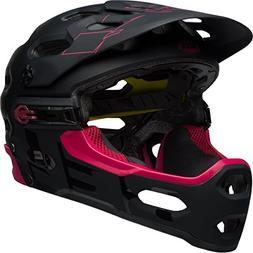 Bell Super 3R MIPS Bike Helmet - Matte/Gloss Black/Cherry La