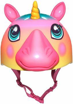 Raskullz Super Rainbow Unicorn Hair Bike Helmet, Child 5-8