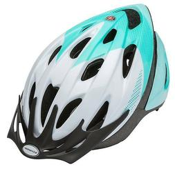 Schwinn Thrasher Adult Microshell Bicycle Helmet, White/Teal