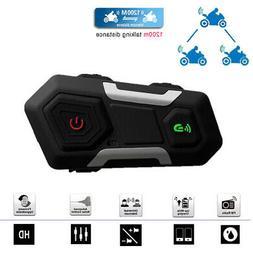 T10S Motorcycle Helmet Bluetooth Intercom Headset 1200M Inte