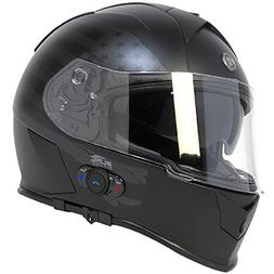 Torc T14B Bluetooth Integrated Mako Full Face Helmet with Fl