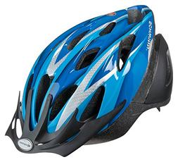 Schwinn Thrasher Youth Microshell Bicycle Helmet, Blue/Silve