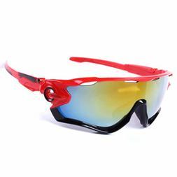 TRIATHLON Sunglasses Red Black Bike Cycling Aero Helmet Tri