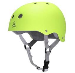 Triple 8 Sweatsaver Liner Skateboarding Helmet, Zest Rubber,