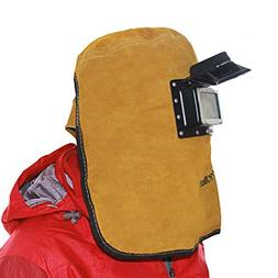 QqHAO TYXHZL Cowhide Electric Welding mask Head Protective m