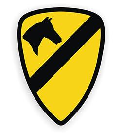 United States Army 1st Cavalry Hard Hat Decal | Motorcycle H