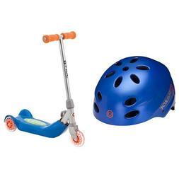 Razor V-17 Child Multi-Sport Helmet, Satin Blue and Razor Jr