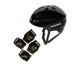 Razor V17 Youth Skateboard / Scooter Sport Helmet w/ Pro Kne