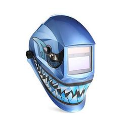 JJLIUH Variable Auto Darkening Welding Helmet Blue shark aut