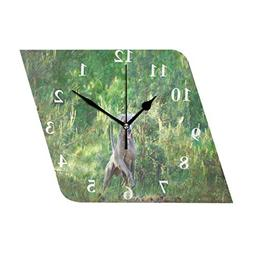 HU MOVR Wall Clock Animal Dog On Nature Silent Non Ticking D