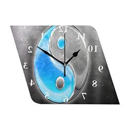 wall clock designer yin yang