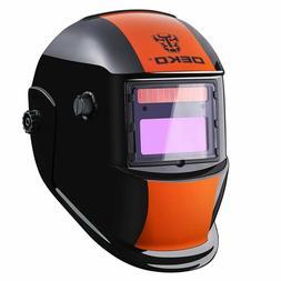 DEKOPRO Welding Helmet Solar Powered Auto Darkening Hood wit