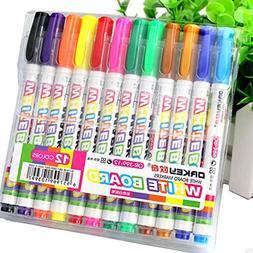 Paper Nine Seven 12 Colors Whiteboard Marker Non Toxic Dry E
