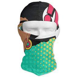 GREEDCLOUD Wow African Woman Full Face Masks UV Balaclava Pr