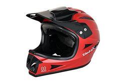X Games Full Face Helmet - Size:  Youth Medium - SATIN RED -