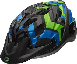 Bell Youth Axle Bike Helmet, Black/Blue/Green