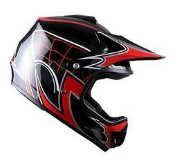 WOW Youth Kids Motocross BMX MX ATV Dirt Bike Helmet Spider
